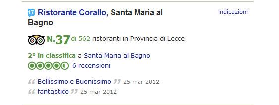 Corallo piccadilly ristorante corallo scala la - Ristorante corallo santa maria al bagno ...
